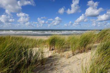 duinen met zich op zee